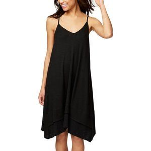 NWT! Rachel Roy Knit Layered Slip Dress Black